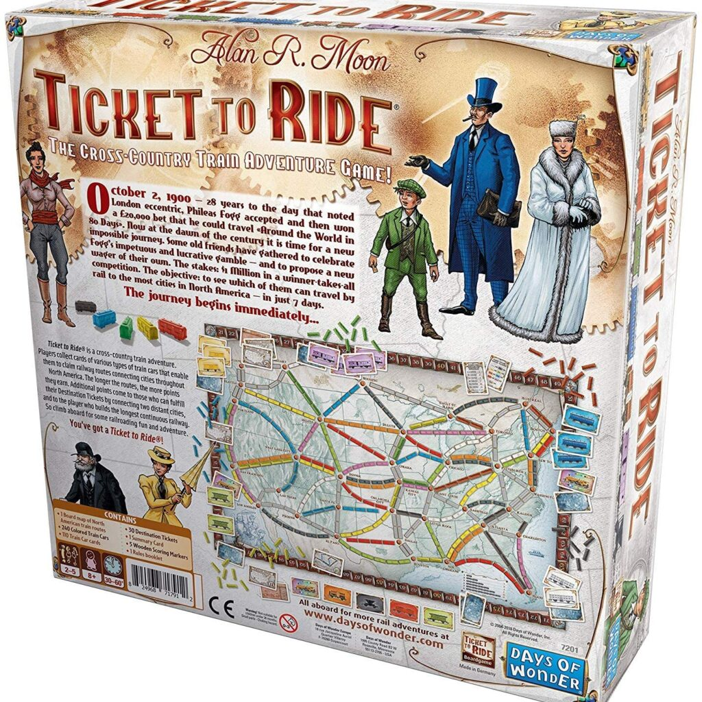 Days of Wonder Ticket to Ride Board Game 1