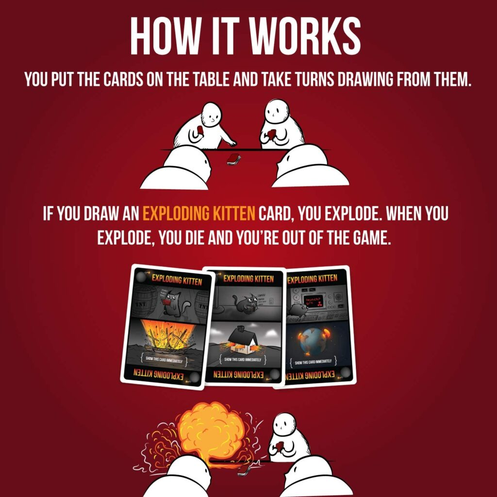 Exploding Kittens Card Games For Adults, Teens & Kids 1