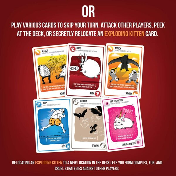 Exploding Kittens Card Games For Adults, Teens & Kids 3
