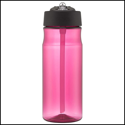 Hydration Bottle with Straw Magenta 530ml