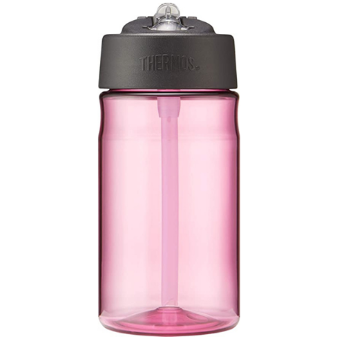 Hydration Bottle with Straw Pink 355ml