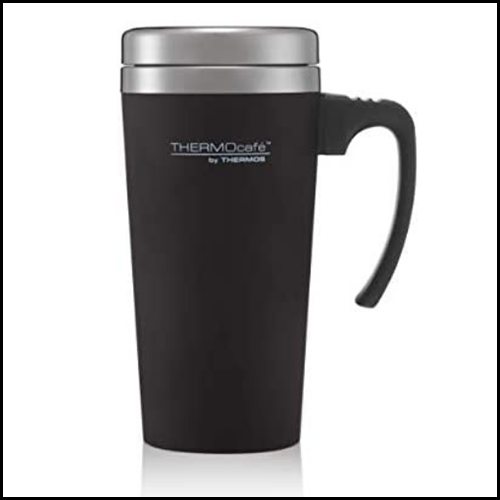 ThermoCafe By Thermos Soft Touch Travel Mug Black 420ml