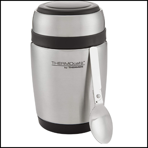 ThermoCafe by Thermos Curved Food Flask with Spoon 400ml 1