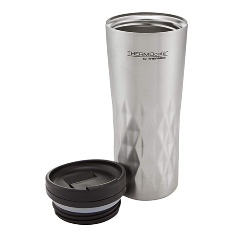 Thermos Cafe Travel Tumbler, Stainless Steel, 400ml 1