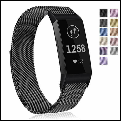 Fitbit Charge 4 / 3 Stainless Steel Watch Band Magnetic Strap