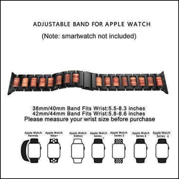 APPLE WATCH SANDALWOOD STAINLESS STEEL REPLACEMENT STRAP 44MM 42MM 2