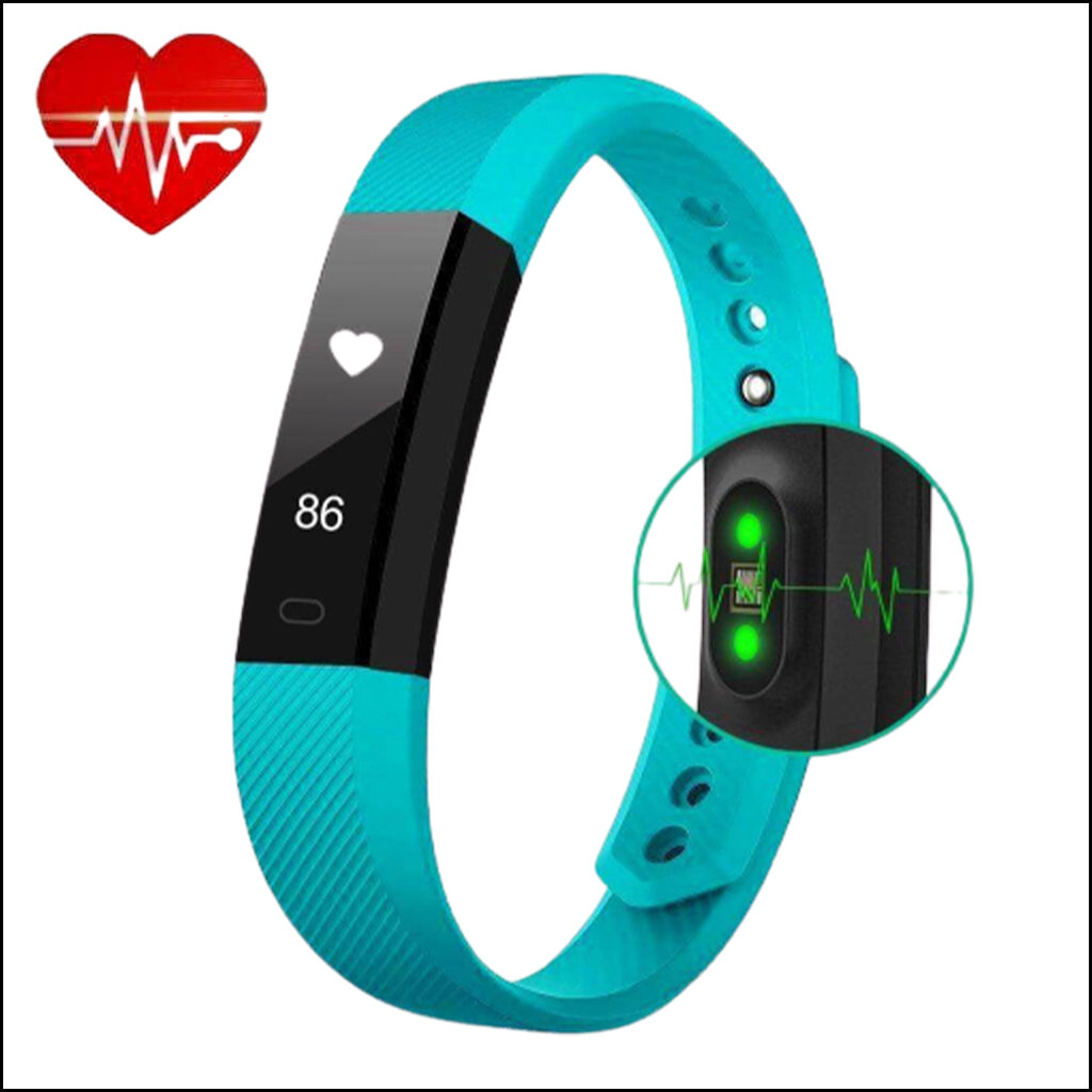 FITNESS TRACKER HEART RATE MONITOR SMART BRACELET WATCH 4
