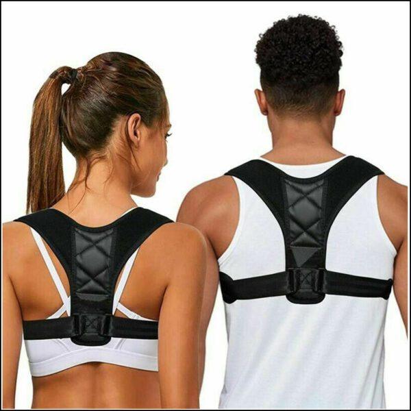 Posture Corrector Body Brace Bad Back Lumbar Shoulder Support Belt Women Men UK 1