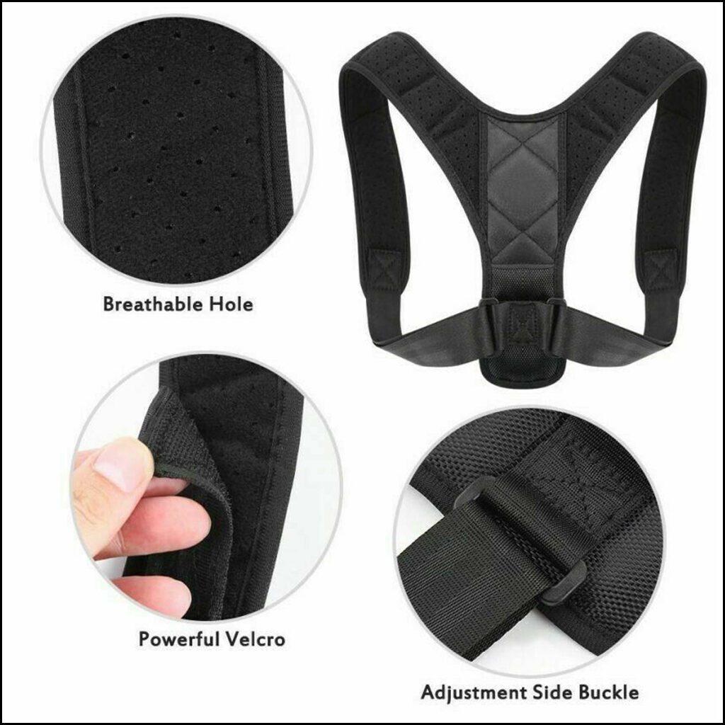 Posture Corrector Body Brace Bad Back Lumbar Shoulder Support Belt Women Men UK 3