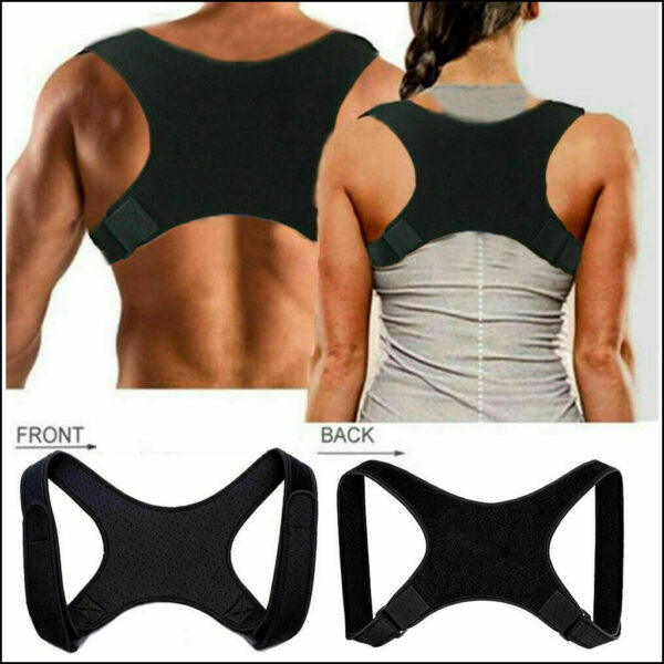 Posture Corrector Body Brace Bad Back Lumbar Shoulder Support Belt Women Men UK 6