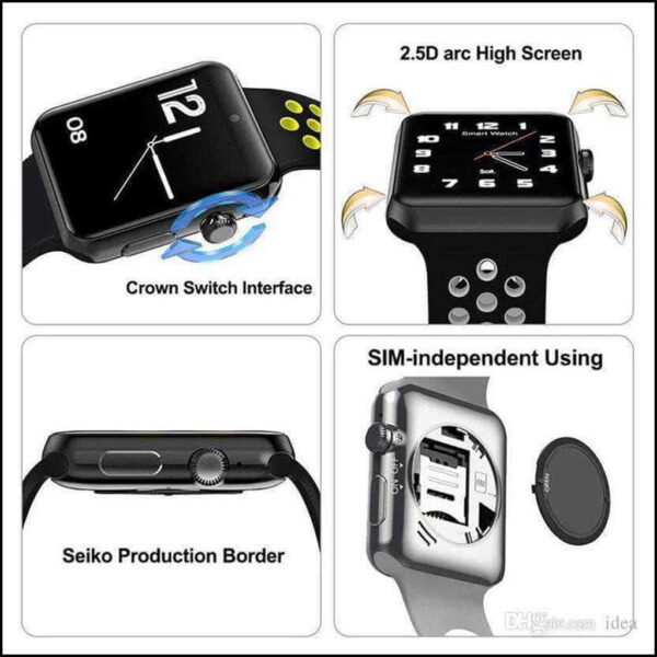 TOUCH SCREEN WATERPROOF BLOOD PRESSURE MONITOR ACTIVITY, FITNESS TRACKER SMARTWATCH 2