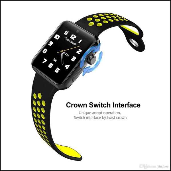 TOUCH SCREEN WATERPROOF BLOOD PRESSURE MONITOR ACTIVITY, FITNESS TRACKER SMARTWATCH 8
