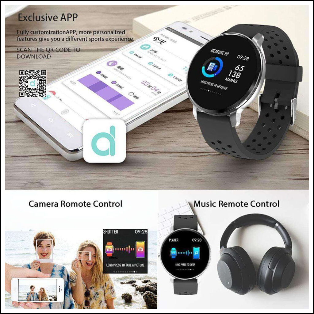 WEARABLE BLOOD PRESSURE MONITOR SMART WATCH FITNESS TRACKER 3