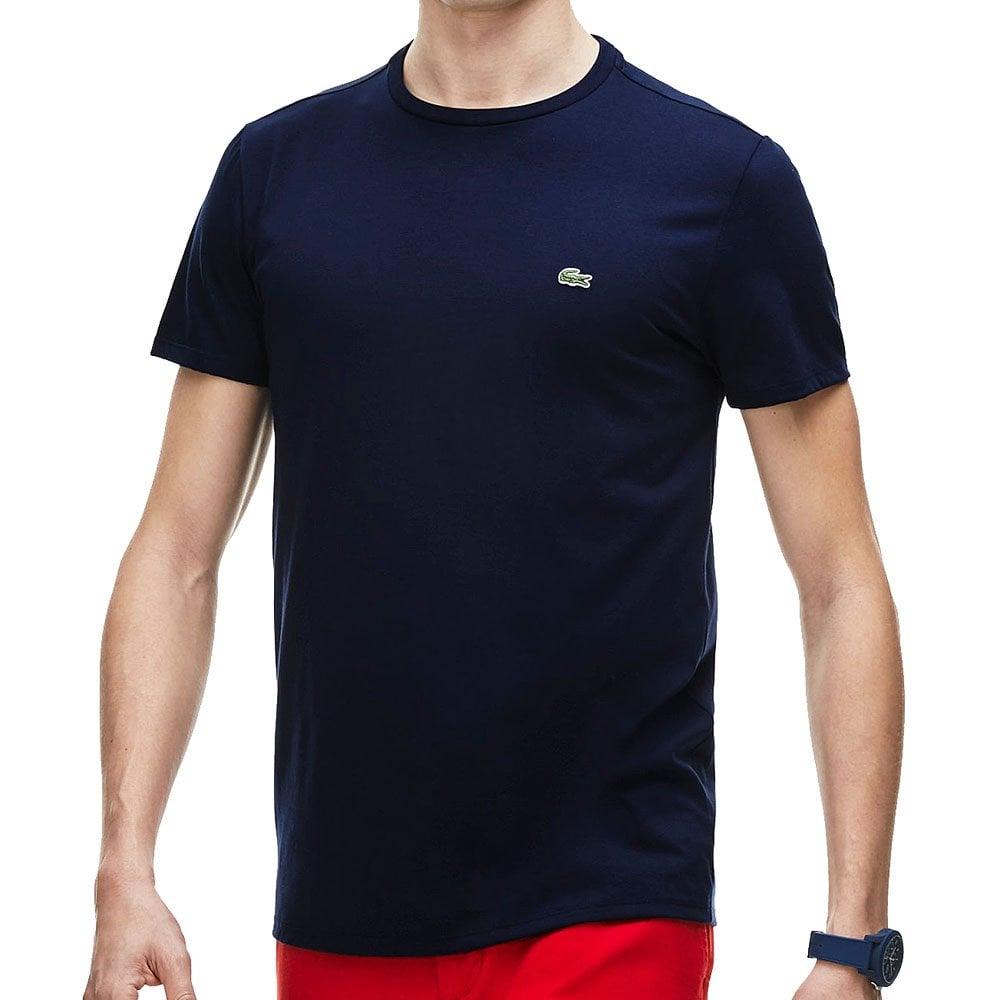lacoste plus size th6709 crew t shirt navy p68917 59388 zoom